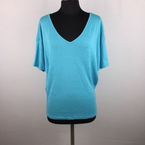 Michael Stars OSFM V-Neck Top Dolman Short Sleeve